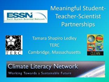 Meaningful Student-Teacher-Scientist Partnerships