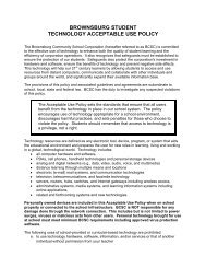 brownsburg student technology acceptable use policy