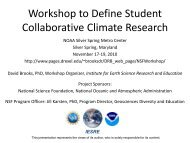 Workshop to Define Student Collaborative Climate Research