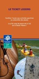 Les tickets loisirs - Caf.fr