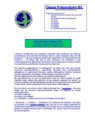Classe Préparatoire B/L - Blanche de Castille