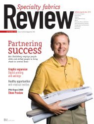 Review, September 2008, Digital Edition - Specialty Fabrics Review