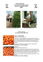 Trial of Tomato - Royal Horticultural Society