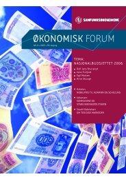 ØKONOMISK FORUM - Samfunnsøkonomene