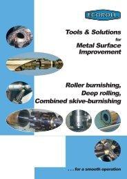 Roller burnishing, Deep rolling, Combined skive-burnishing Tools ...