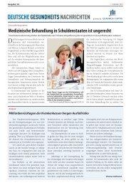PDF ausgabe 2013-39 - DEUTSCHE GESUNDHEITS NACHRICHTEN