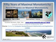 Maximal Monotonicity - CARMA - University of Newcastle