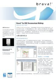 Brava!® for EMC Documentum Webtop Features and Benefits