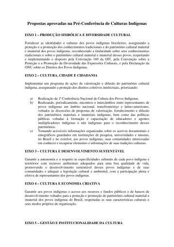 Propostas aprovadas na Pré-Conferência de ... - Cultura Digital
