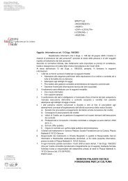Consenso informato clienti e fornitori - Palazzo Ducale