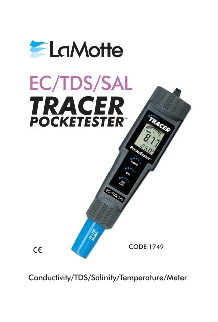 LaMotte EC/TDS/SAL Tracer Pocketester - ACT Waterwatch