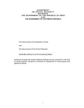 Social Security Agreement Between India And Belgium Epfo