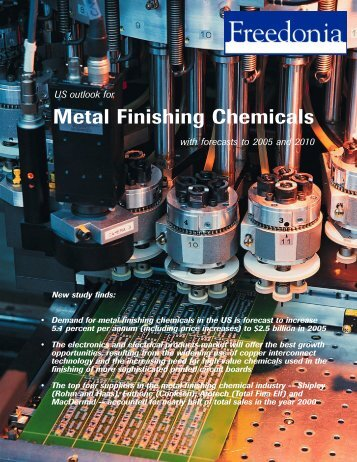 Metal Finishing Chemicals - The Freedonia Group