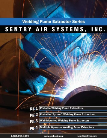 Welding Fume Extractor Series - Sentry Air Systems