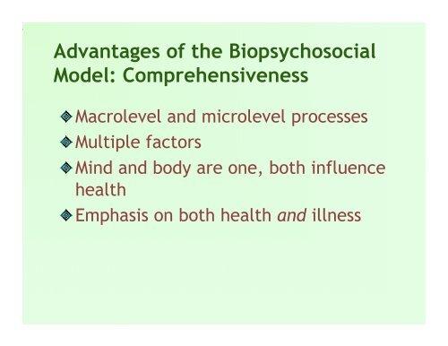 biopsychosocial model of illness