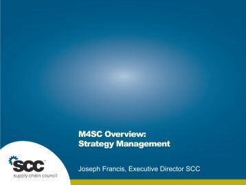 M4SC Strategy Layer - Supply Chain Council