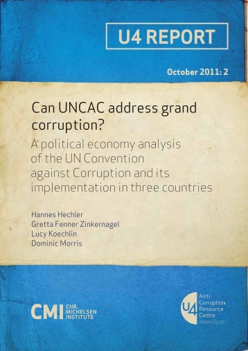Can UNCAC address grand corruption? - CMI