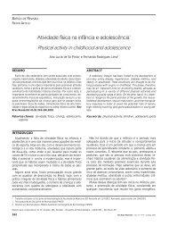 Atividade física na infância e adolescência* - Portal Saude Brasil . com
