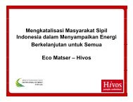 Eco Matser – Hivos - IESR