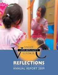 VOC Annual report 2009 - Valley Opportunity Council