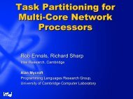 Task Partitioning for Multi-Core Network Processors Task ...