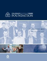 2013 Guide to Giving - Give To Mines - Colorado School of Mines
