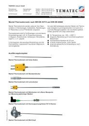 Mantel-Thermoelemente nach DIN EN 43710 und DIN ... - Ohmewatt
