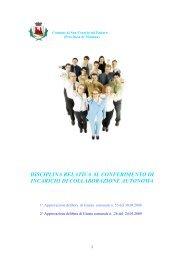disciplina relativa al conferimento di incarichi di collaborazione ...