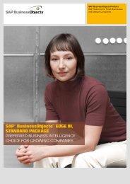 SAP® BusinessObjects™ EdgE BI, StAndArd PAckAgE