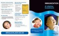 General Immunization Brochure-English - Region of Peel