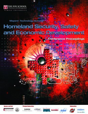 Homeland Security, Safety and Economic Development