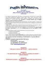 informationsblatt zu den projekten der bezirksgemeinschaft eisacktal
