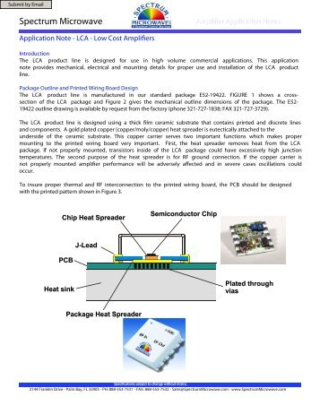 LCA Application Notes - Spectrum Microwave by API Technologies