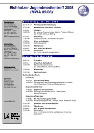 Programm Jugendmedientreff 28.05.08 - Journalisten Akademie
