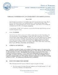 Minutes - Nebraska Commission on Law Enforcement and Criminal ...