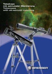Teleskope mit azimutaler Montierung Telescopes with alt-azimuth ...