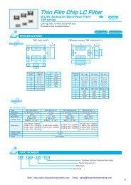 Datasheet - Rhopoint Components
