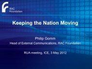 Philip Gomm - RAC Foundation