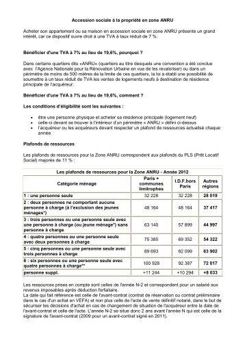 Point de vue sur l 39 accession sociale aorif for Maison accession sociale