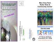 Mon View Roller Rink brochure - Greene County