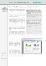 cundus BI-Publisher für SAP BW PowerPoint-Präsentationen auf ...