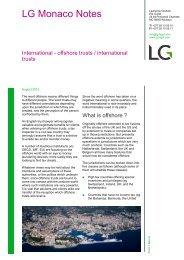 LG Monaco Notes - Lawrence Graham