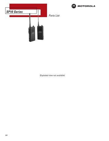 Portable Accessories SP10 Series Audio ... - MyRadioMall.com