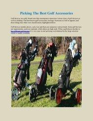 Picking The Best Golf Accessories