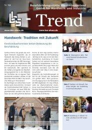 Handwerk: Tradition mit Zukunft - Berufsbildungsstätte ...