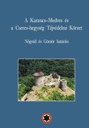 A Karancs–Medves és a Cseres-hegység Tájvédelmi Körzet