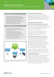 VMware vCenter Server – Datenblatt PDF