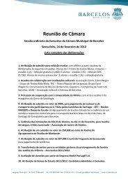 lista completa das deliberações - Município de Barcelos