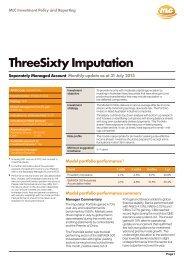SMA ThreeSixty Imputation Monthly Product Profile - MLC
