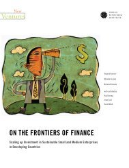 On the Frontiers of Finance - World Resources Institute